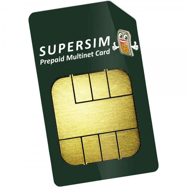 SUPERSIM-Prepaid-Multinetzkarte für Wildkameras
