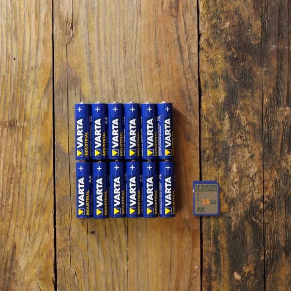 Starterkit (12x Alkaline & 16GB SD-Karte)