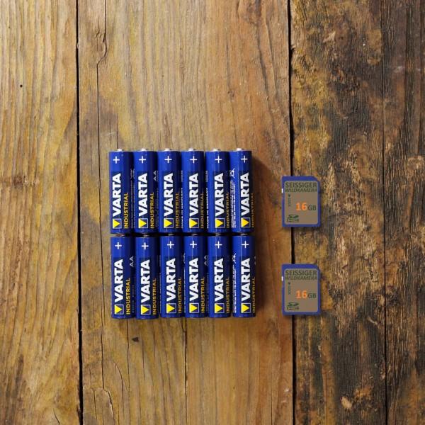 Profi-Starterkit (12x Alkaline & 2x 16GB SD-Karte)